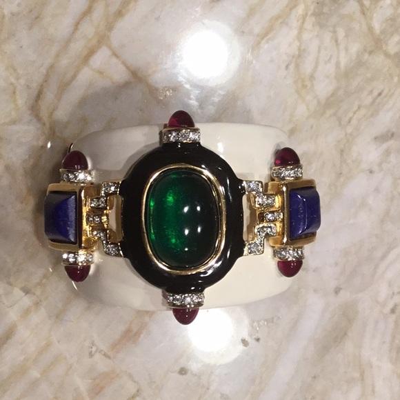 Kenneth Jay Lane Jewelry | Enamel Bracelet | Poshmark